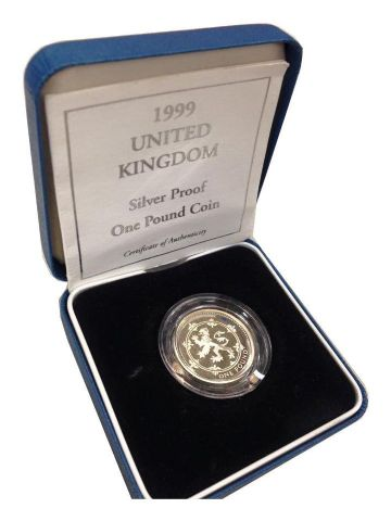 1999 Silver Proof One Pound Coin